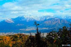 八海山と紅葉