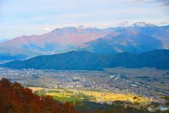 紅葉冠雪の越後三山