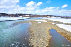 早春の信濃川
