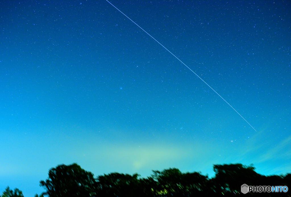 国際宇宙ステーション(ISS)きぼうの光跡