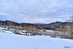 黒姫山(刈羽)と田園