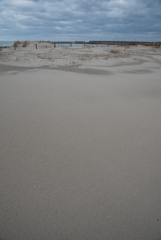 未踏の砂地