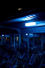 自転車を照らす