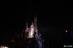 シンデレラ城  ワンス・アポン・ア・タイムの雷