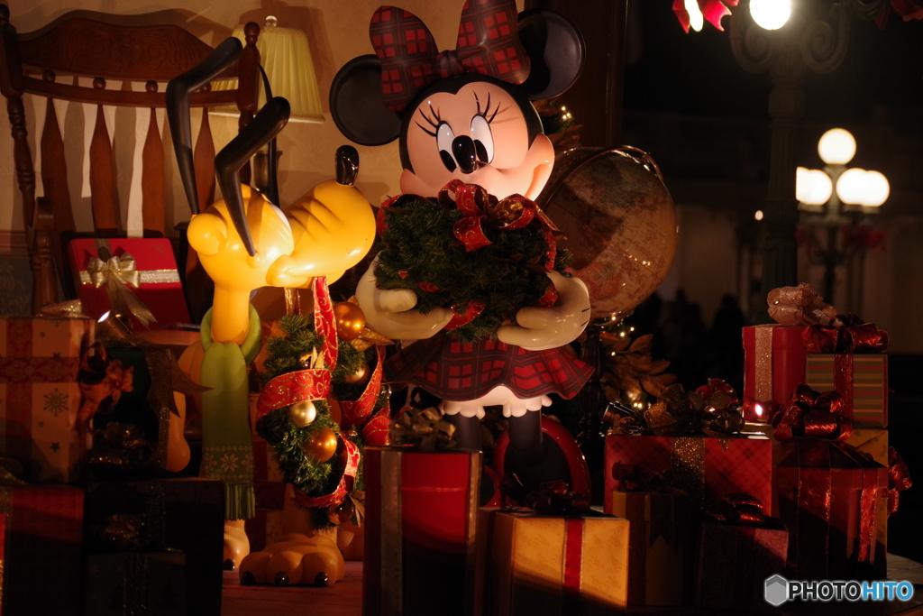 クリスマスの準備 ねえ!プルート!楽しいわね! ワン!