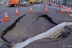 地震の影響