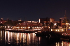 港 クリスマスの明かり