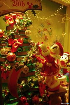 クリスマスのショーウィンドウ