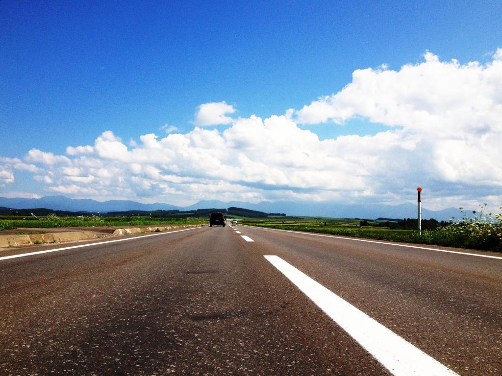 青空、道、北海道