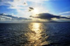 江の島からの太陽