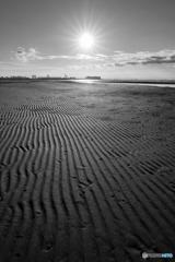 太陽と波紋