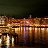 水辺の夜景
