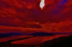 天橋立 が 紅色に染まる時