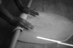 「そば職人の手」
