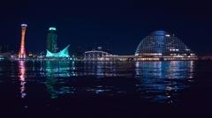 「神戸ハーバーランド 週末の夜」 ~フィッシュアイ水平出し~