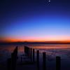 「有明海の月と宵の明星」