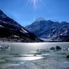 マウントクックと氷河