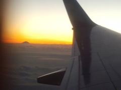 機中からの富士山