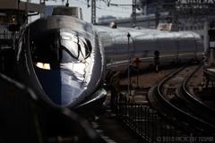 雨上がりの新大阪駅