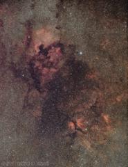 北アメリカ星雲周辺のうごめく赤いやつら