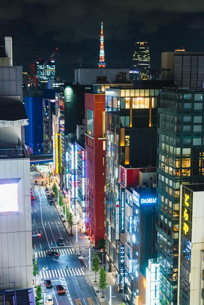 遠く見える東京タワー