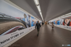 The super wide view in the underpass.