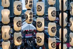 祇園祭、函谷鉾からの眺め