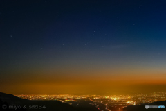 春宵に冬の星座、オリオン