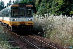 のと鉄道(能登線)羽根駅付近にて