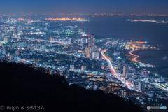 Replace : 夜景 ( 須磨〜神戸〜大阪 )