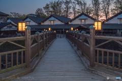 夕刻の山居倉庫