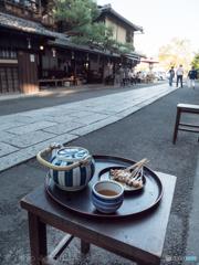 今宮神社 門前の名物 あぶり餅。美味しい〜♡!