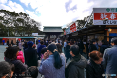 宗像大社のお正月(やっぱり熱いぜ、九州!)