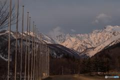 白馬ジャンプ競技場より五竜岳