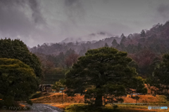 雨の修学院離宮