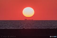 久しぶりの日本海の落陽