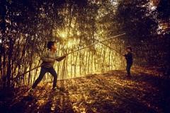 竹藪の攻防戦