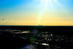 天方城跡公園からのアクトタワー