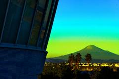 アクアス焼津からの富士山