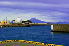 大井川港からの富士山