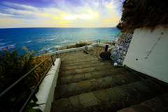 御前崎灯台の階段