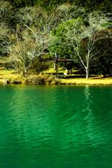 丹野池の休憩所
