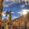 サンタンジェロ城のあたたかな夕焼けと天使