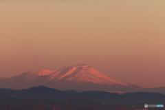 朝焼け浅間山