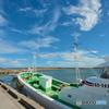 晴れの日の港