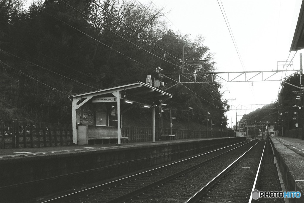 夕暮れの駅