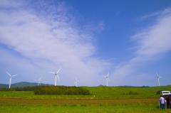 風車と青空