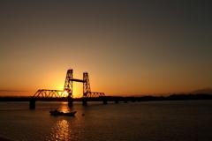 筑後川昇開橋(夕焼け)