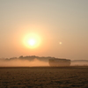 朝霧の大地