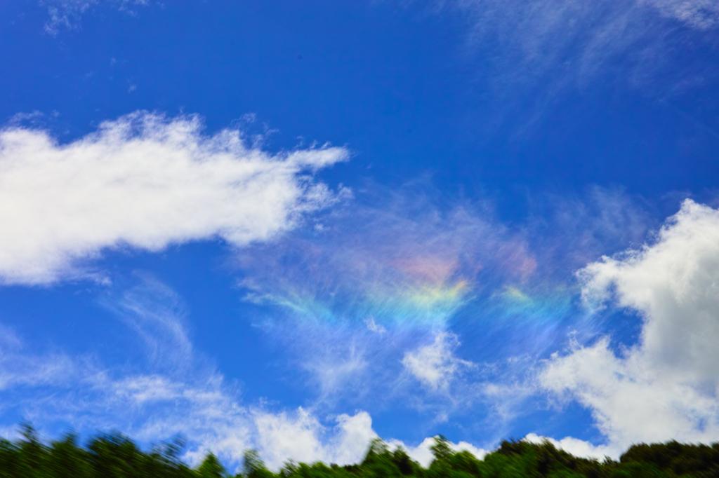 彩雲と追いかけっこ